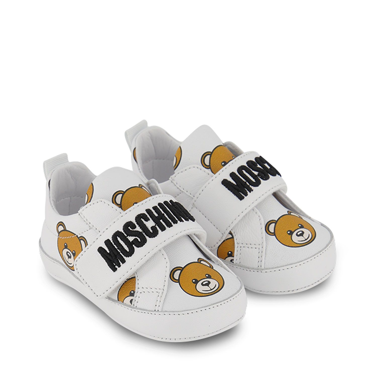 Picture of Moschino 68712 baby sneakers white