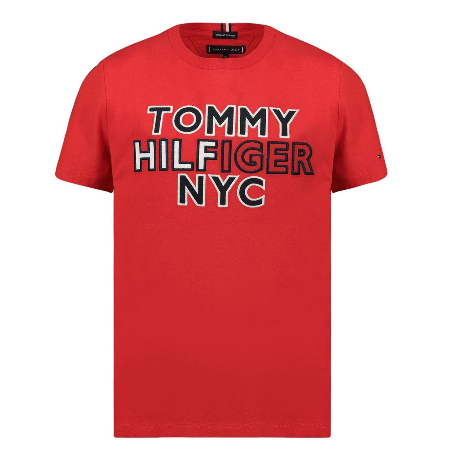 Picture of Tommy Hilfiger KB0KB05848B baby shirt red