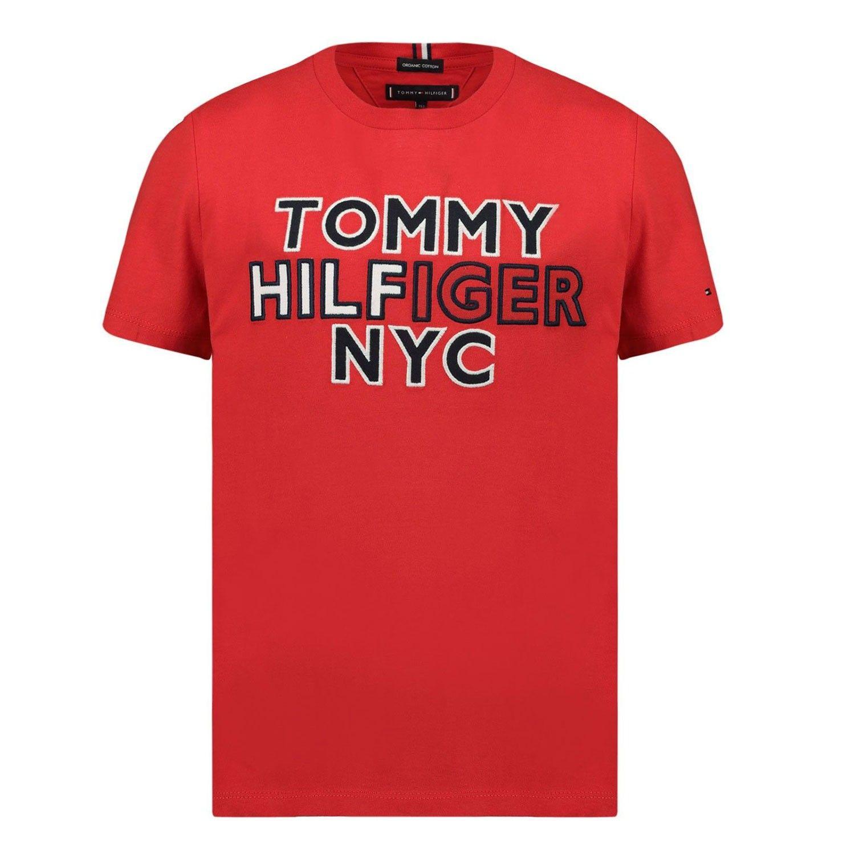 Bild von Tommy Hilfiger KB0KB05848B Baby-T-Shirt Rot