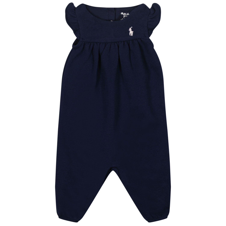 Picture of Ralph Lauren 851086 baby playsuit navy