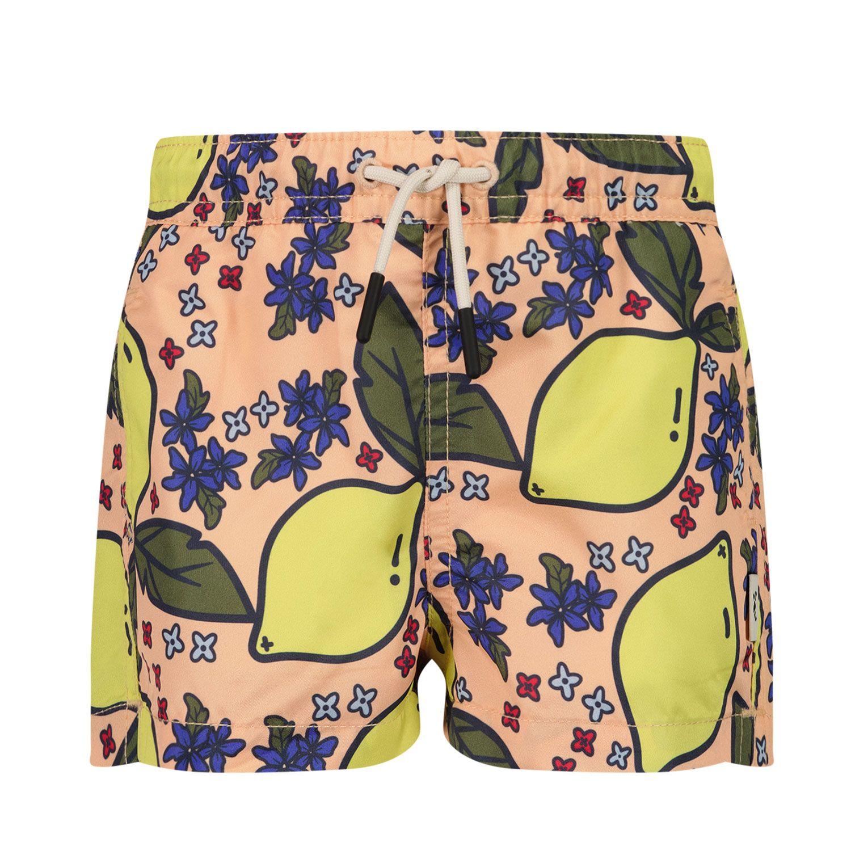 Afbeelding van SEABASS SWIMSHORT B baby badkleding zalm/geel