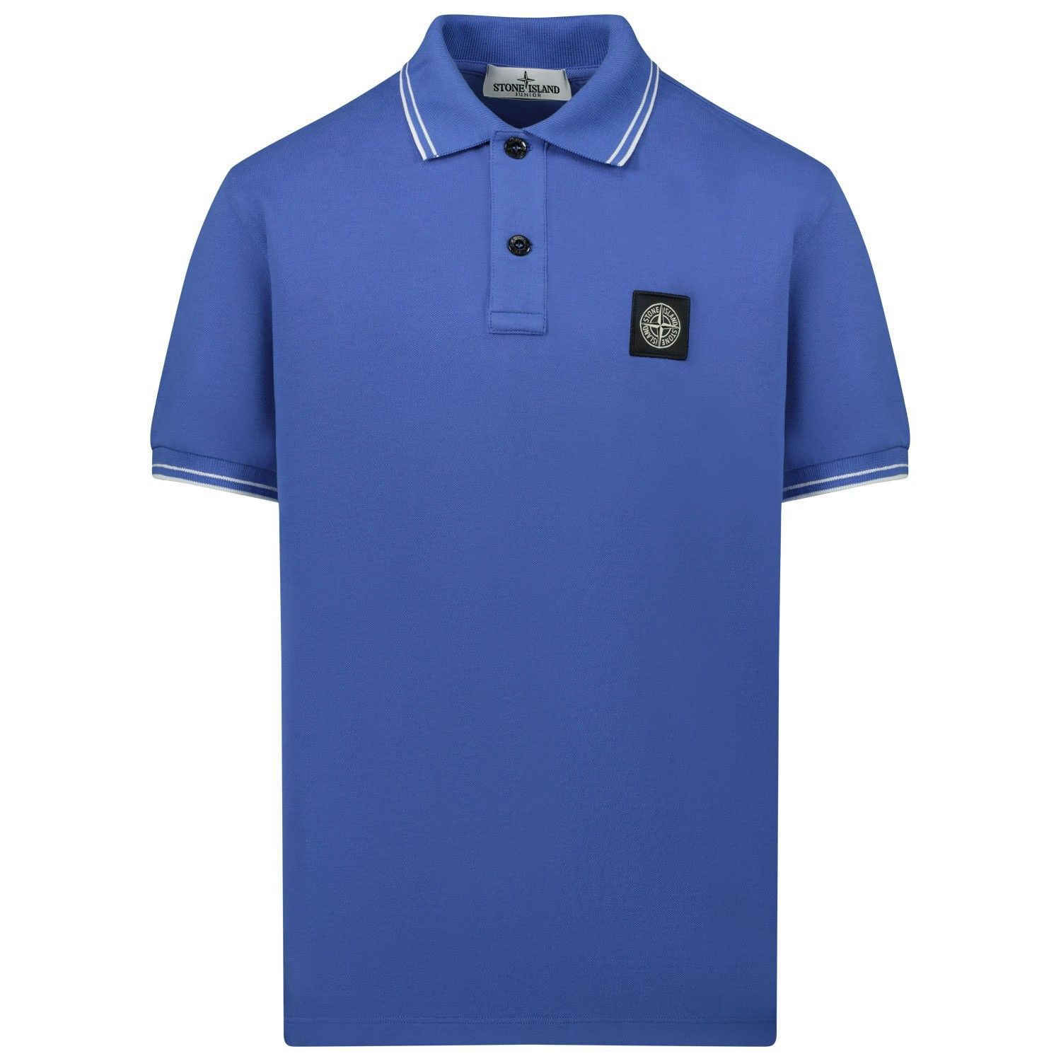 Picture of Stone Island 721621348 kids polo shirt cobalt blue