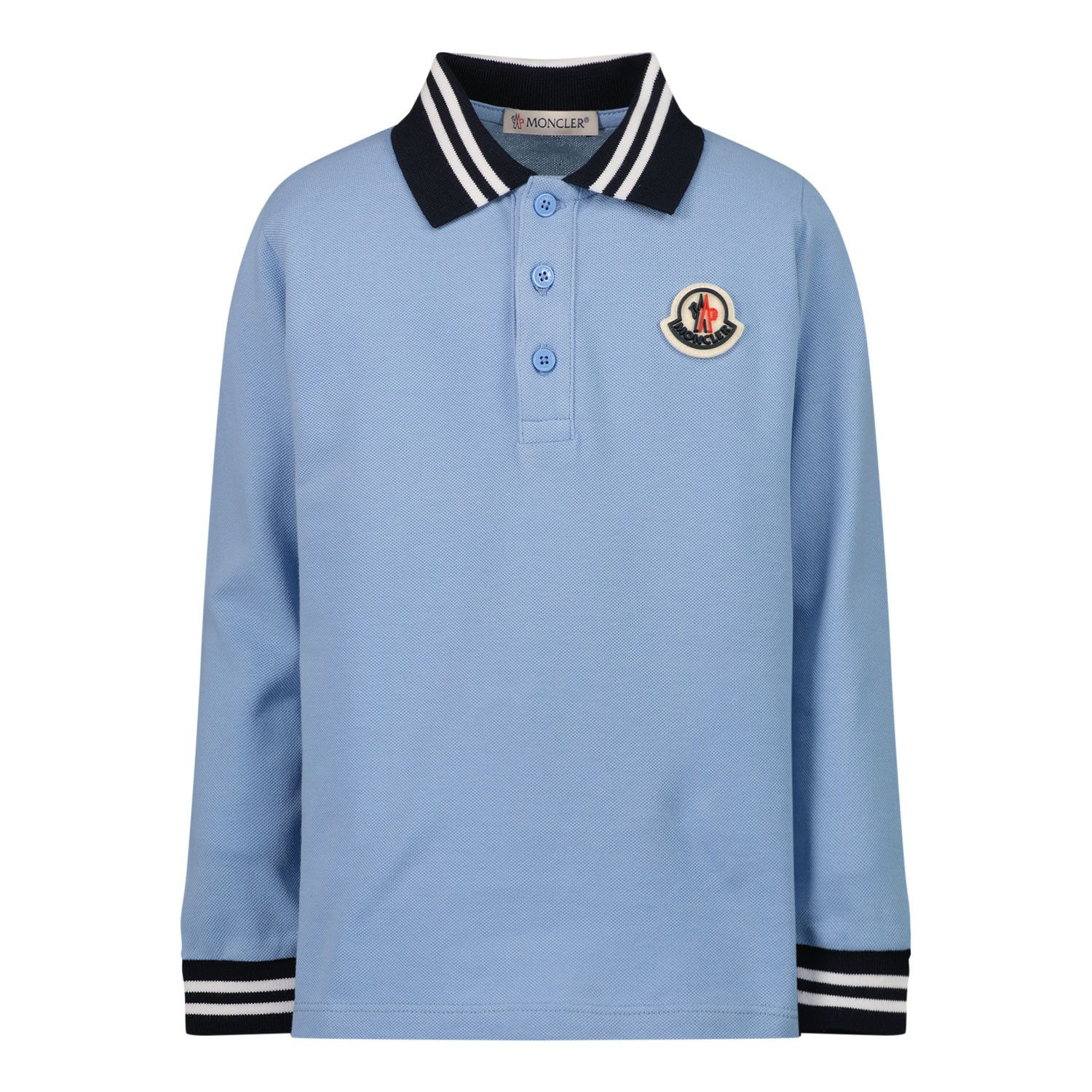 Picture of Moncler 8B70820 baby poloshirt light blue