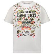 Afbeelding van Burberry 8038446 kinder t-shirt wit
