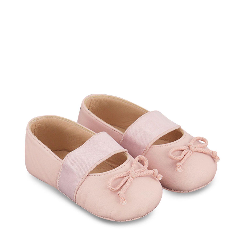 Afbeelding van Fendi BFR091 AGCB babyschoenen licht roze/wit
