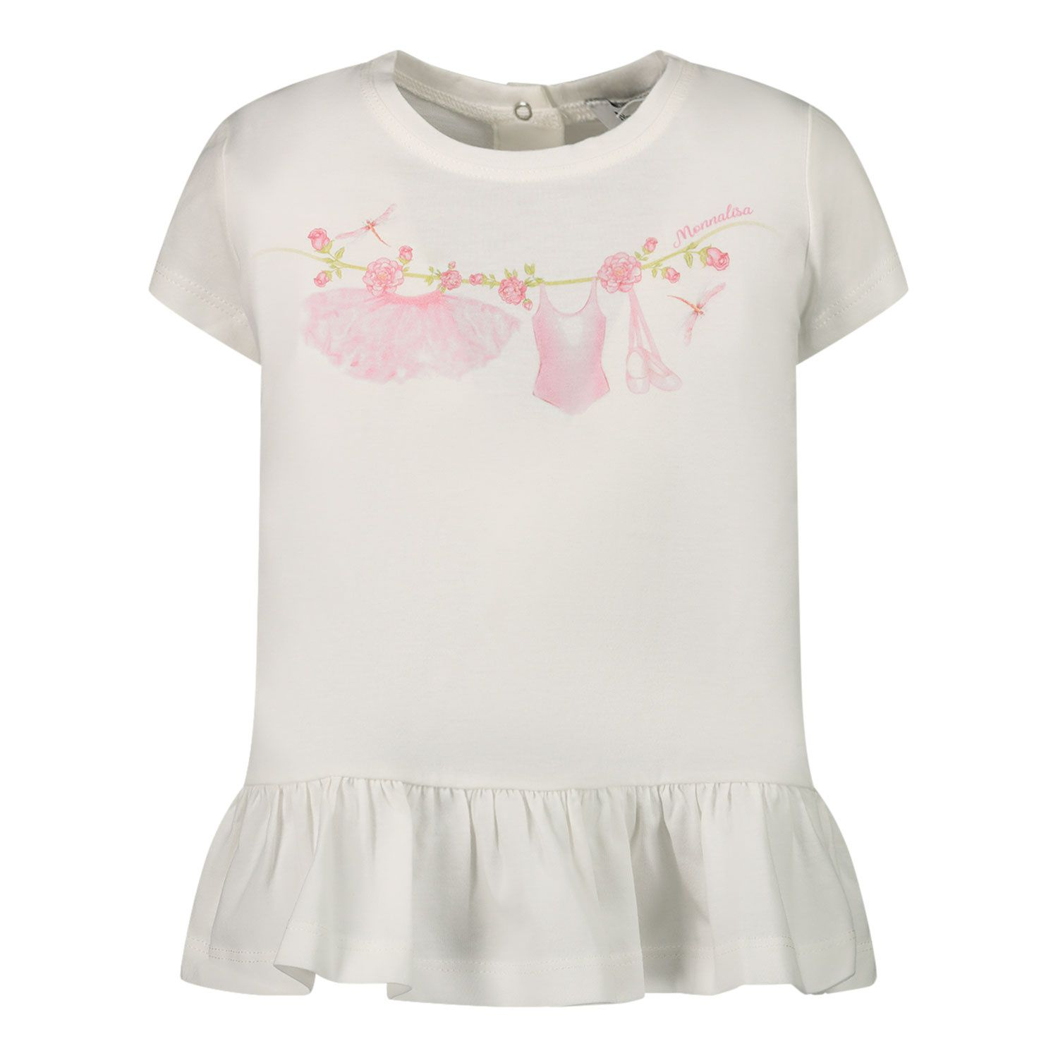 Picture of MonnaLisa 397608SK baby tunic off white