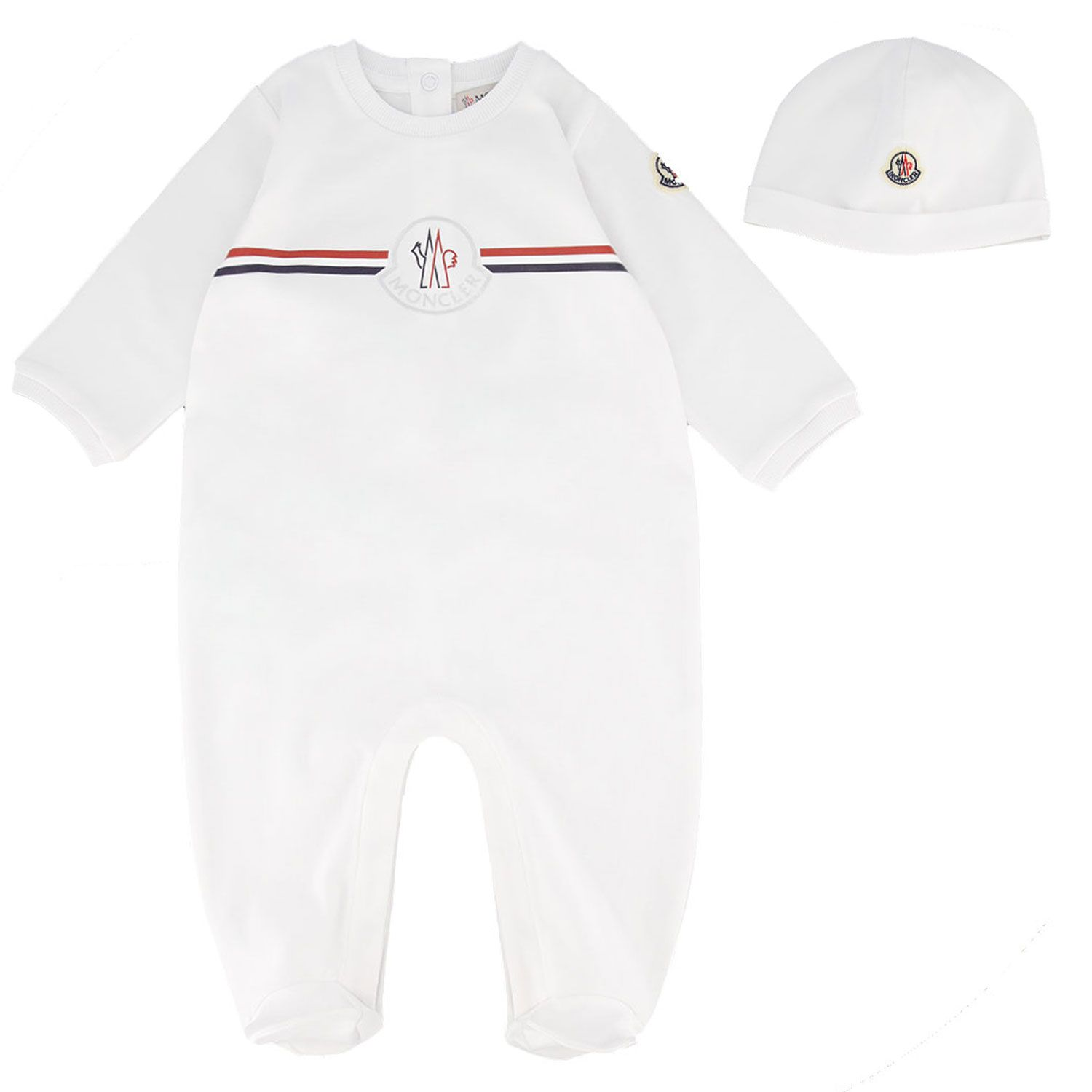 Picture of Moncler 8O70200 baby playsuit white