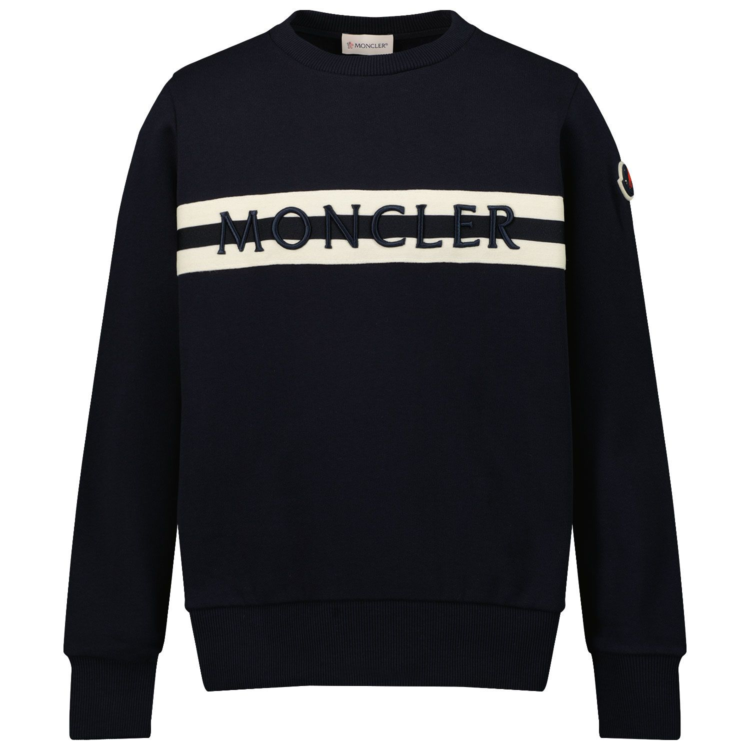 Picture of Moncler 8G74420 kids sweater navy