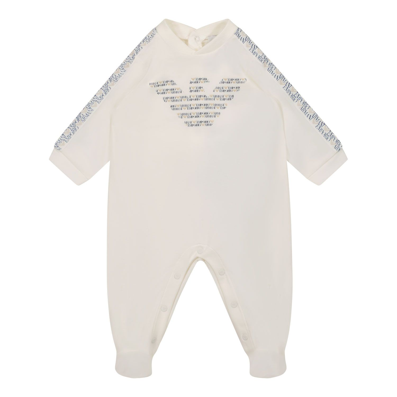 Picture of Armani 6KND11 baby playsuit off white