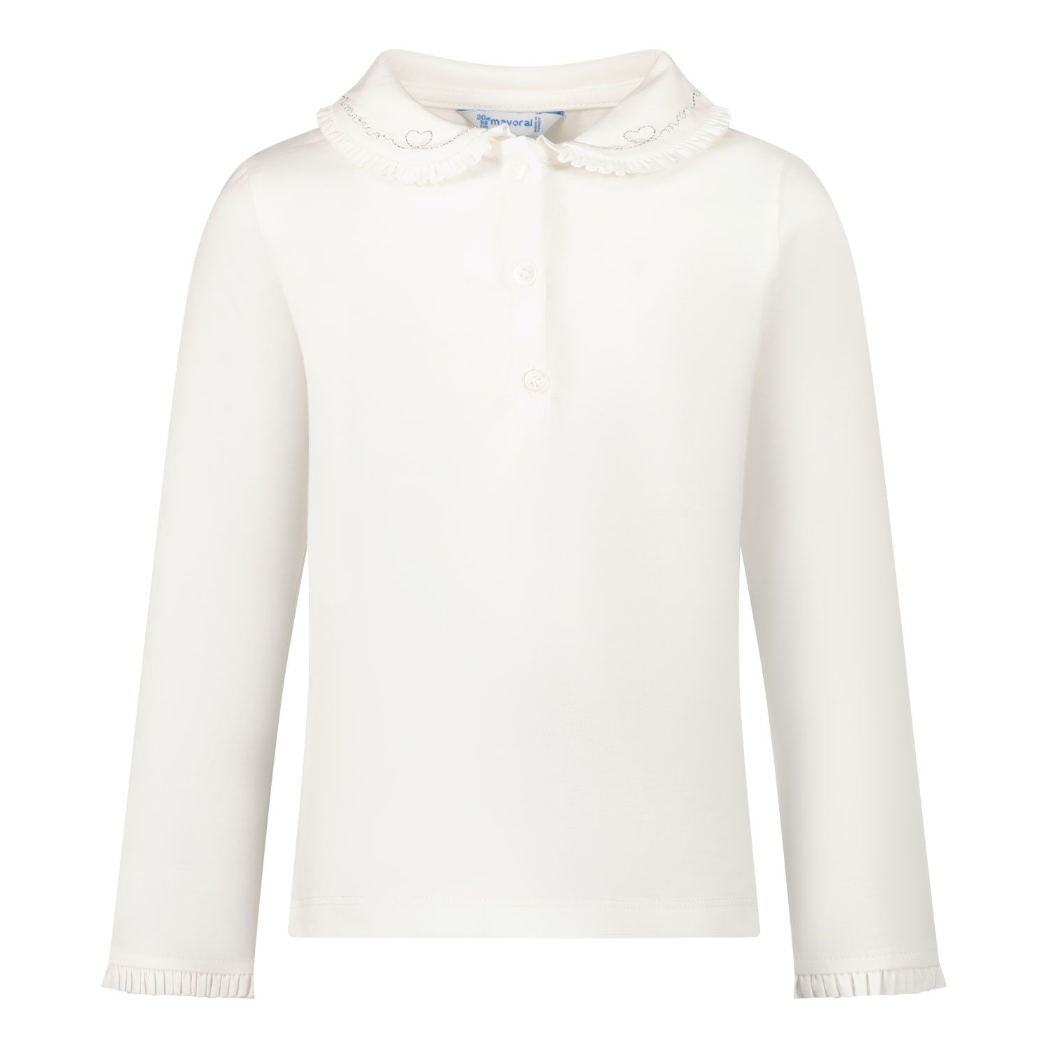 Picture of Mayoral 104 baby poloshirt off white