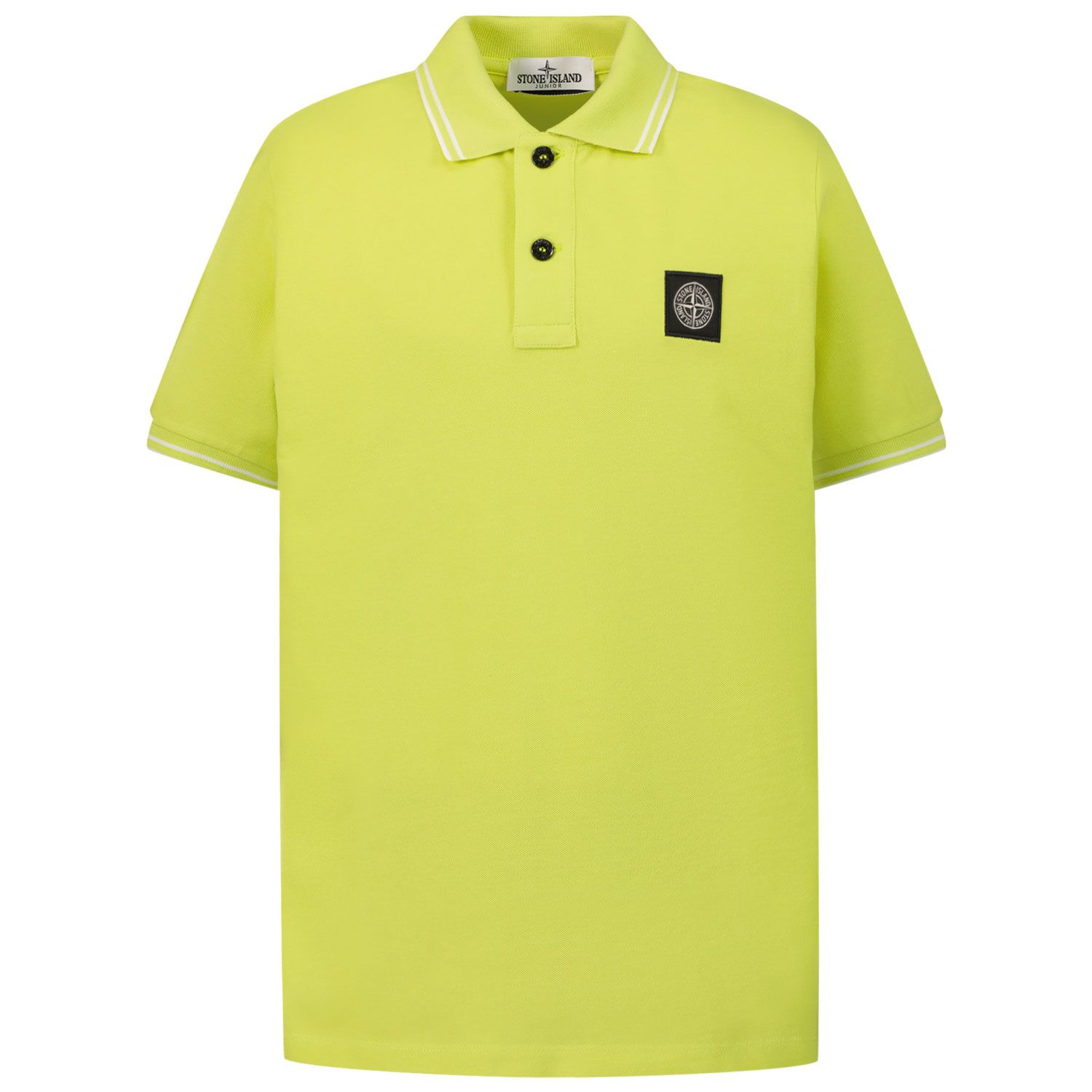 Picture of Stone Island 21348 kids polo shirt lime