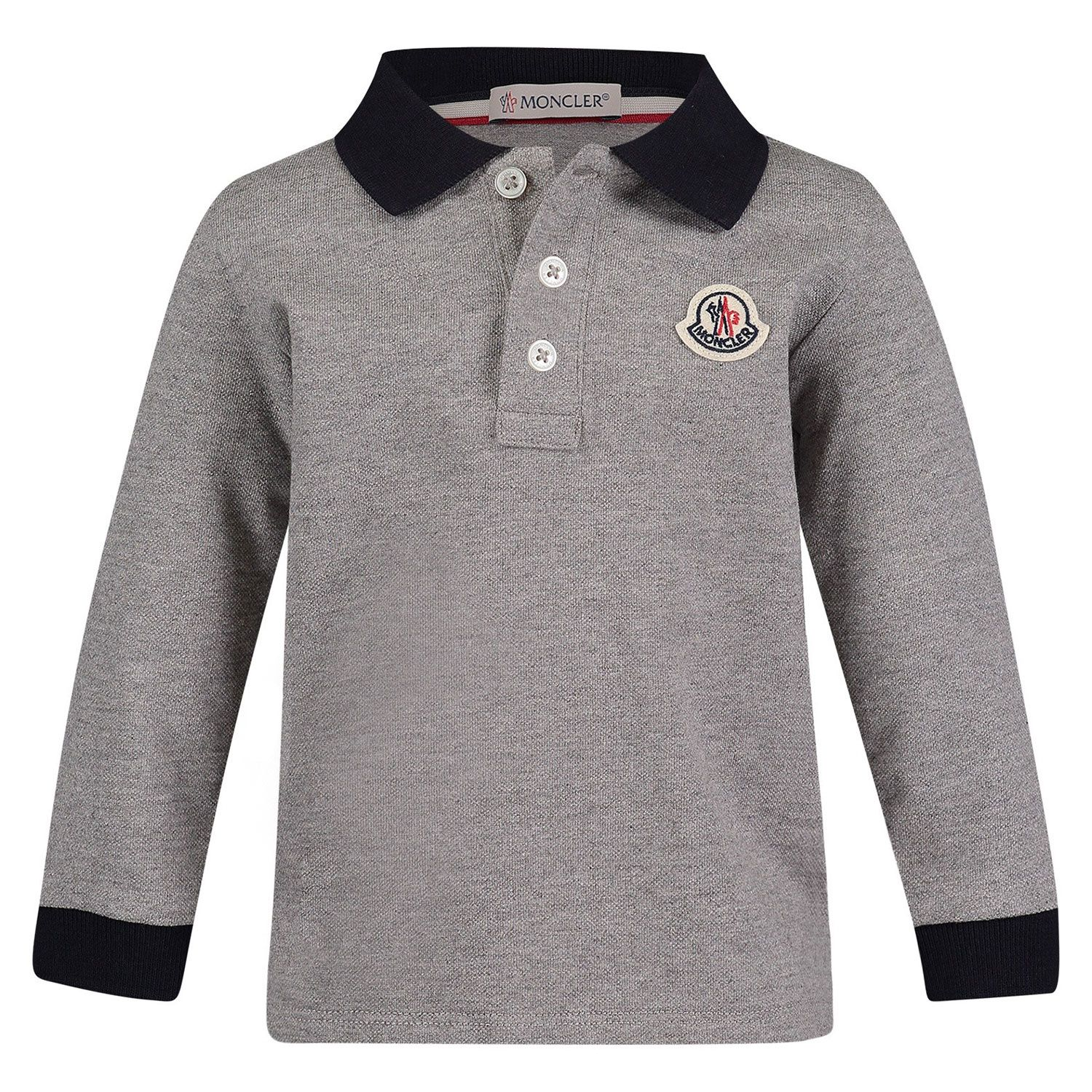 Picture of Moncler 8B70520 baby poloshirt grey