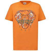 Picture of Kenzo K25114 kids t-shirt salmon