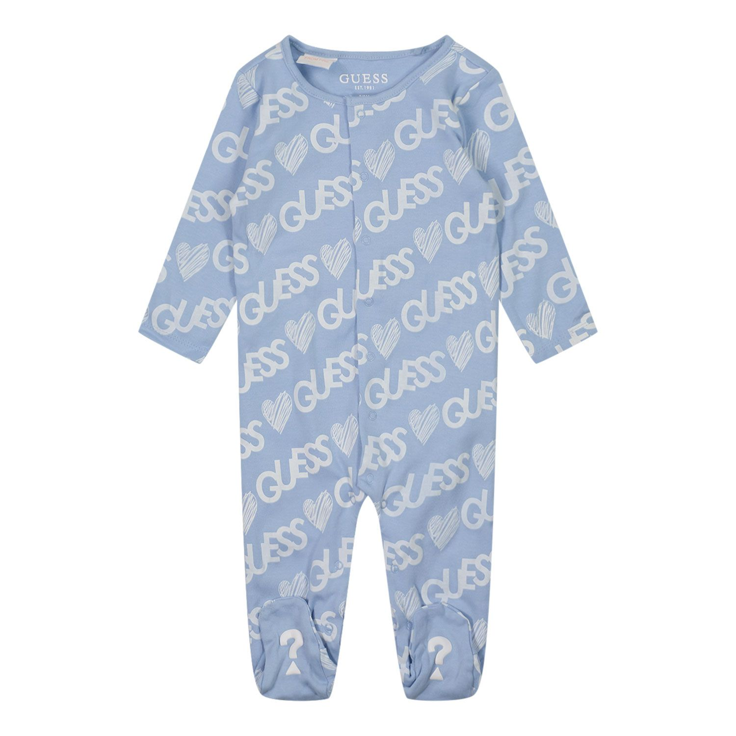 Picture of Guess H1YW07 baby playsuit light blue
