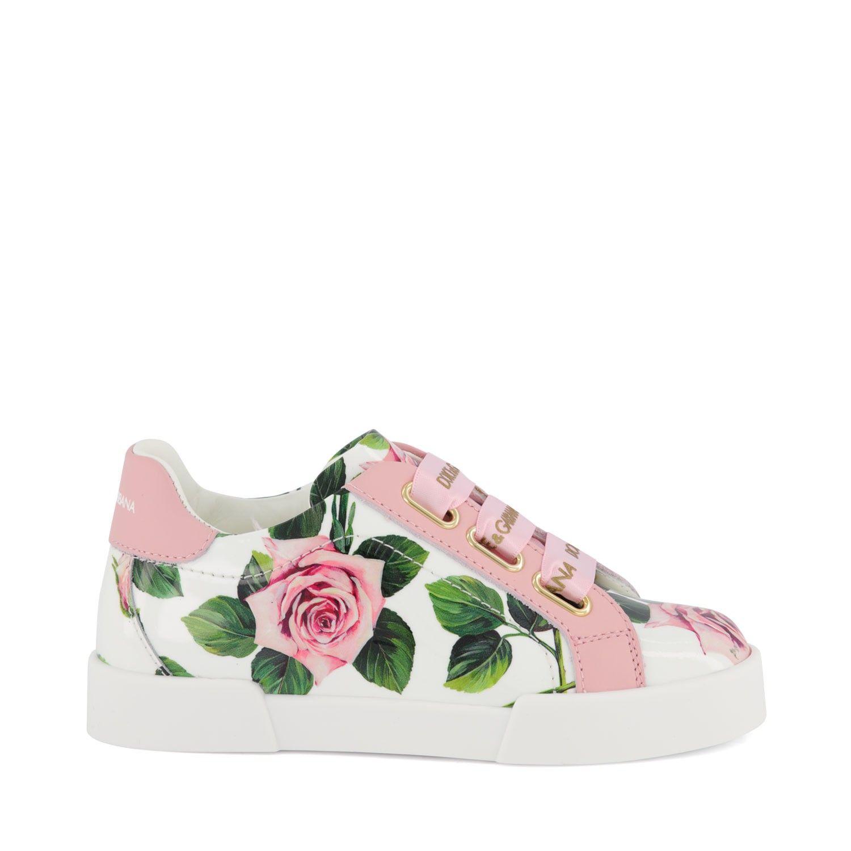 Afbeelding van Dolce & Gabbana D10918 / AJ865 kindersneakers licht roze