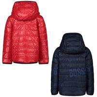 Picture of Boss J06218 baby coat navy