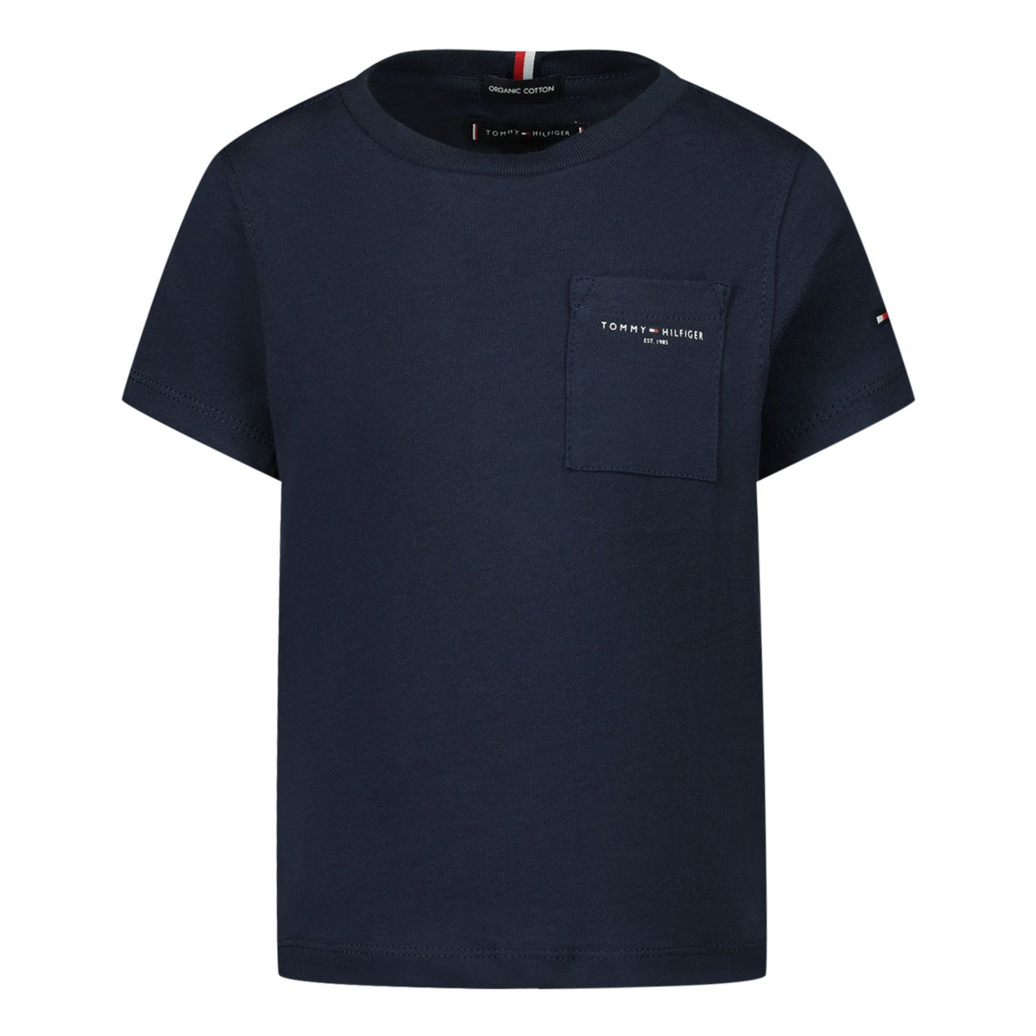Picture of Tommy Hilfiger KB0KB06556B baby shirt navy