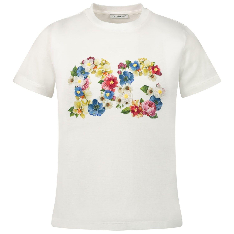 Picture of Dolce & Gabbana L5JTBO / G7VVX kids t-shirt white