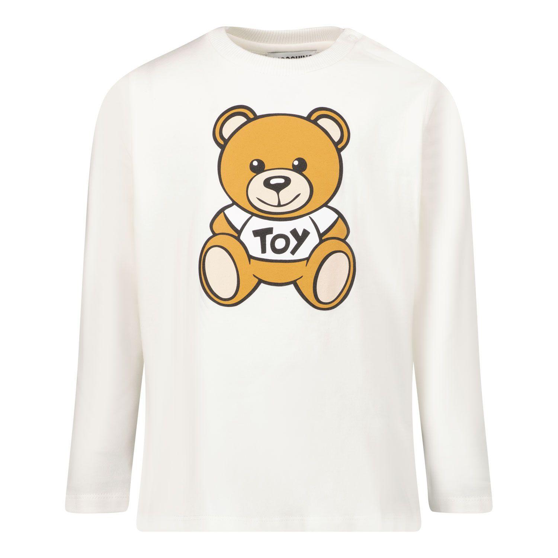 Picture of Moschino MOO005 baby shirt white