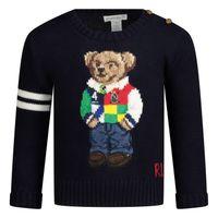Picture of Ralph Lauren 320834677 baby sweater navy