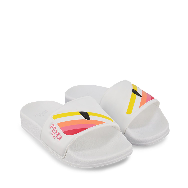 Afbeelding van Fendi JMR355 AEGL kinderslippers wit