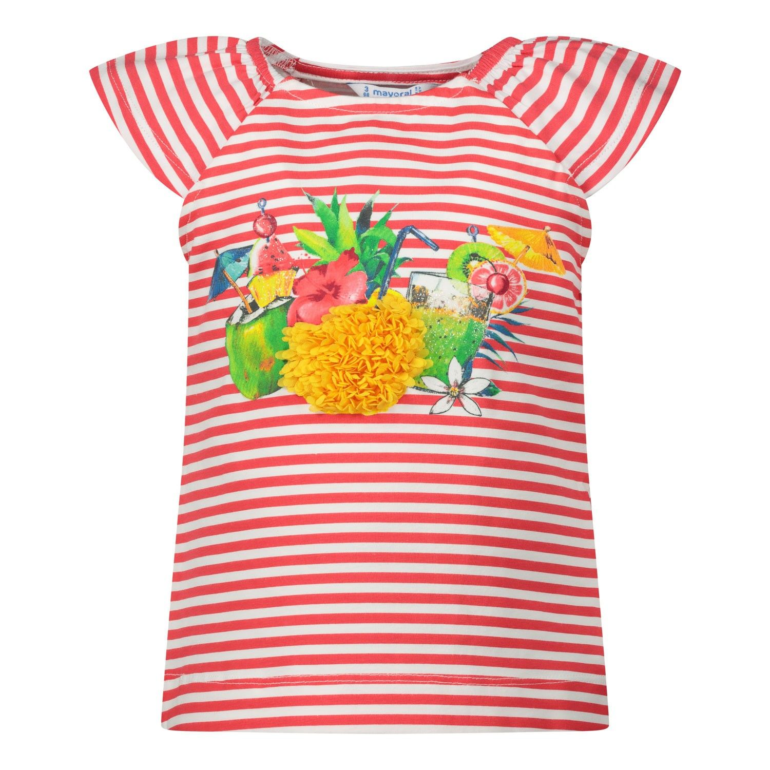 Picture of Mayoral 3028 kids t-shirt coral