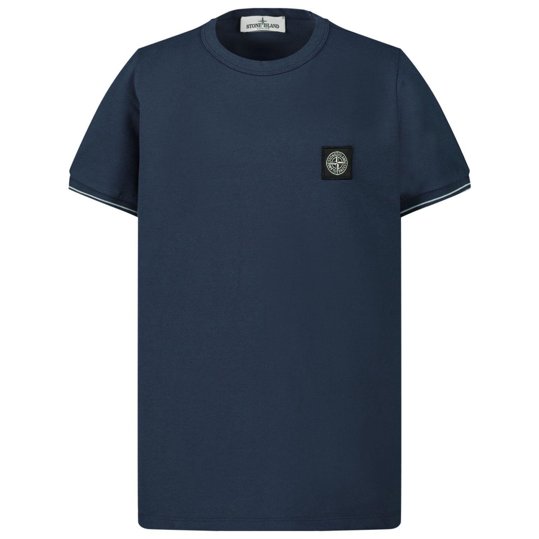 Afbeelding van Stone Island 721620348 kinder t-shirt donker blauw
