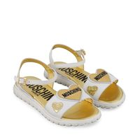 Picture of Moschino 67452 kids sandals white