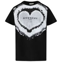 Picture of Givenchy H25299 kids t-shirt black