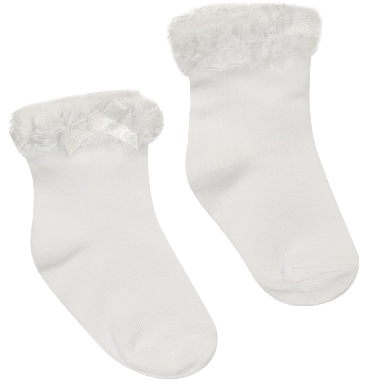 Picture of Mayoral 9367 baby socks white