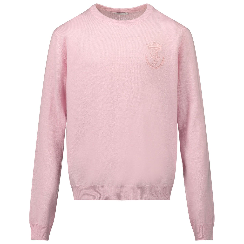 Afbeelding van Dolce & Gabbana L4KW22/JAW00 kindertrui licht roze