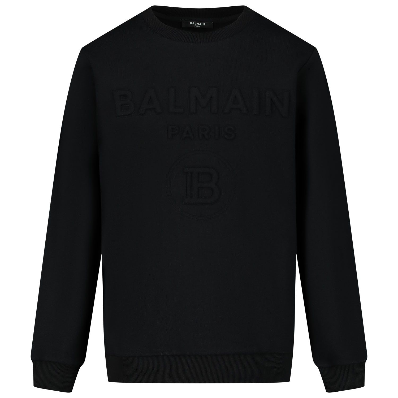 Afbeelding van Balmain 6M4740 kindertrui zwart