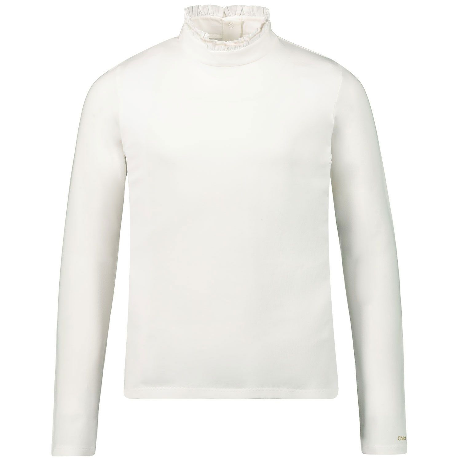 Picture of Chloé C15B34 kids t-shirt off white