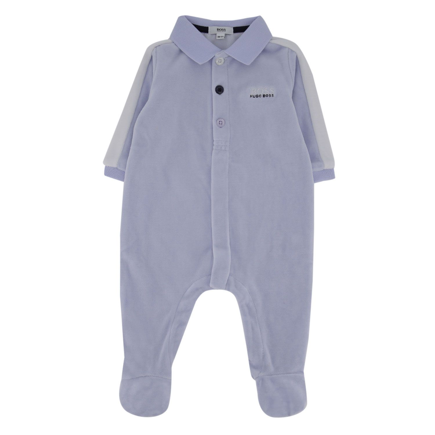 Picture of Boss J97162 baby playsuit light blue