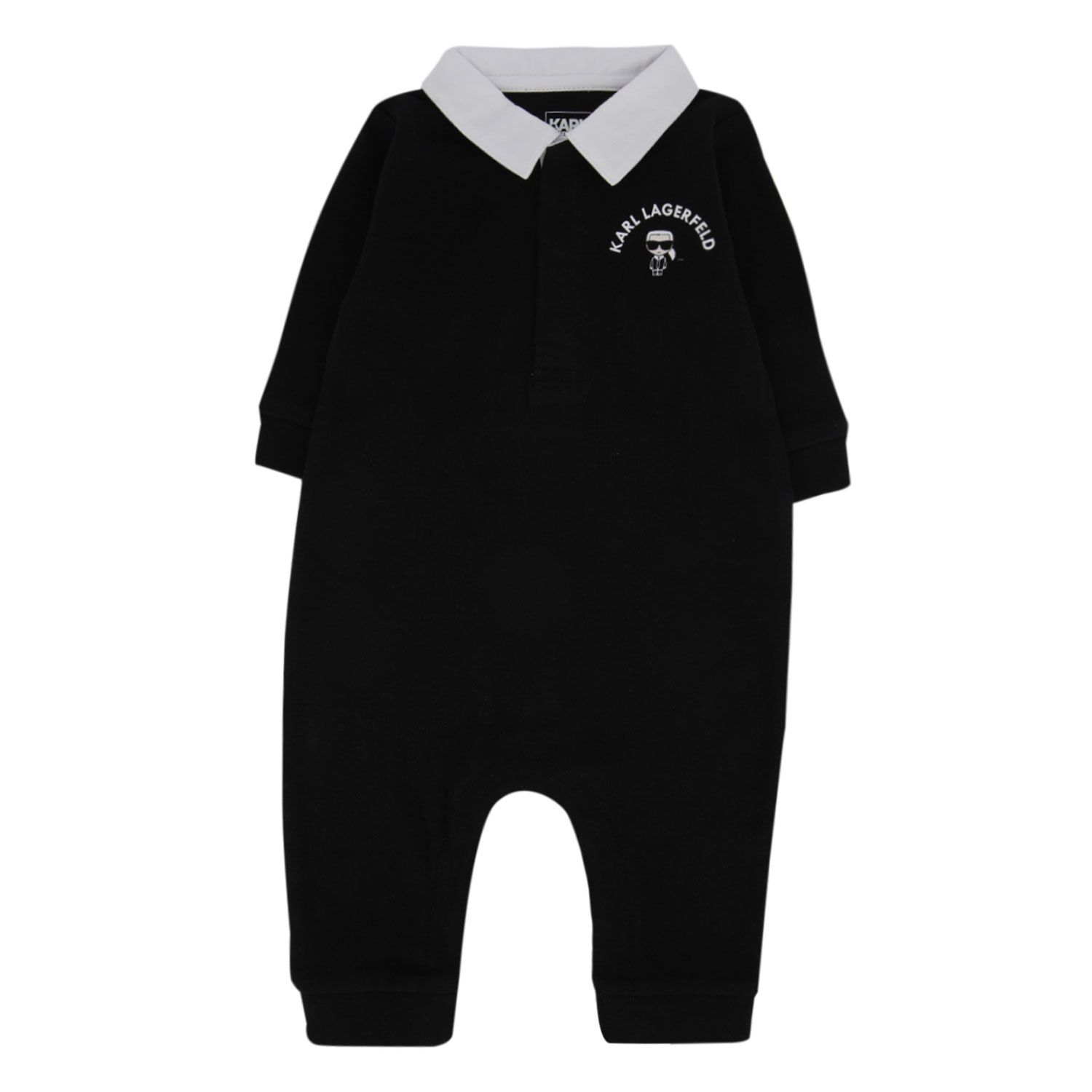 Picture of Karl Lagerfeld Z94055 baby playsuit black