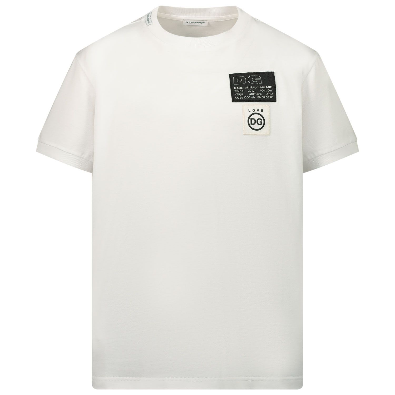 Picture of Dolce & Gabbana L4JT8A G7YJK kids t-shirt white