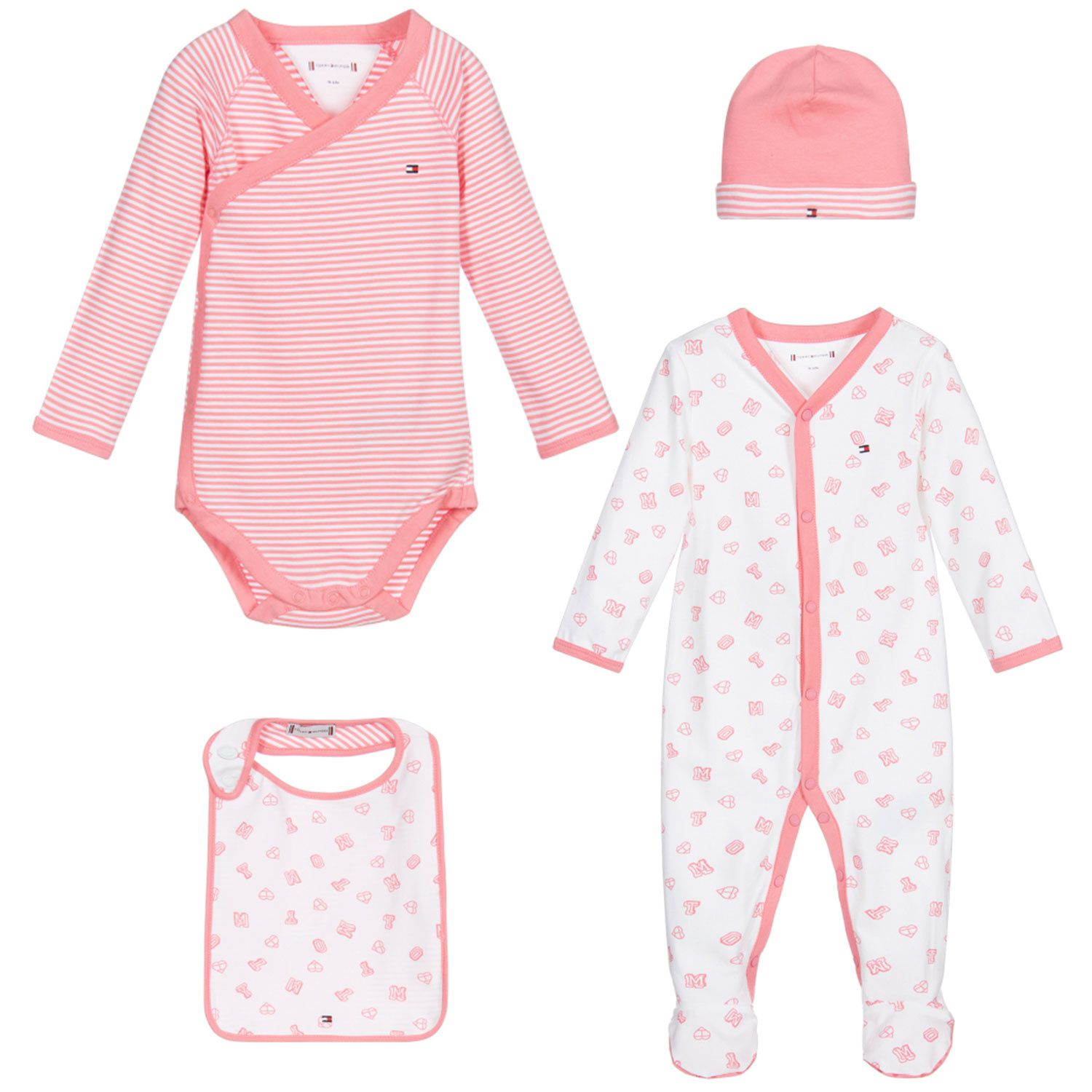 Picture of Tommy Hilfiger KN0KN01179 baby set pink