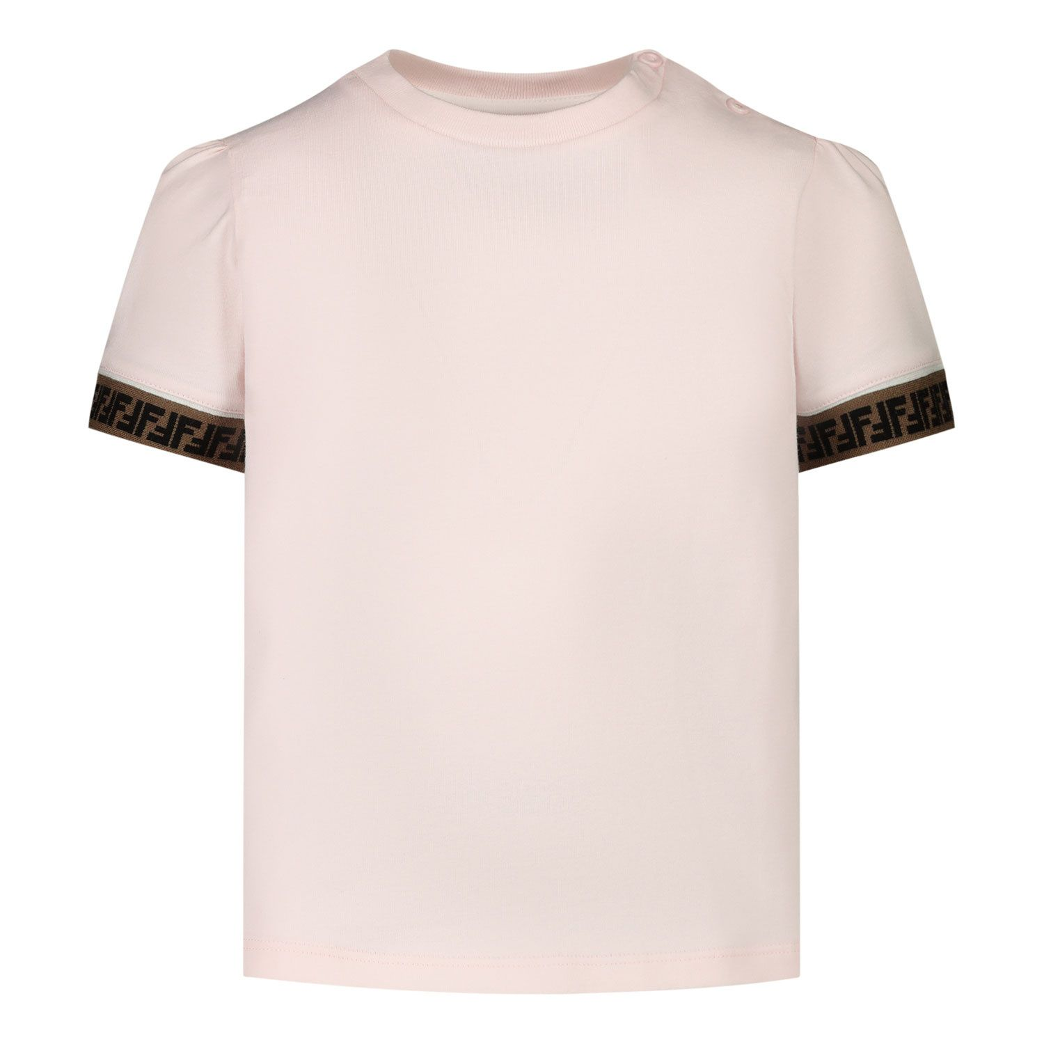 Picture of Fendi BFI117 baby shirt light pink