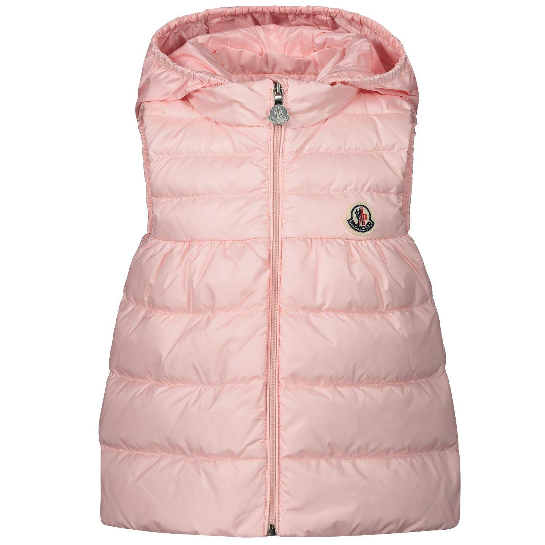 Afbeelding van Moncler 1A10610 baby bodywarmer licht roze