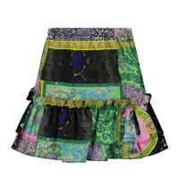 Picture of Versace 1000360 1A00297 baby skirt turquoise