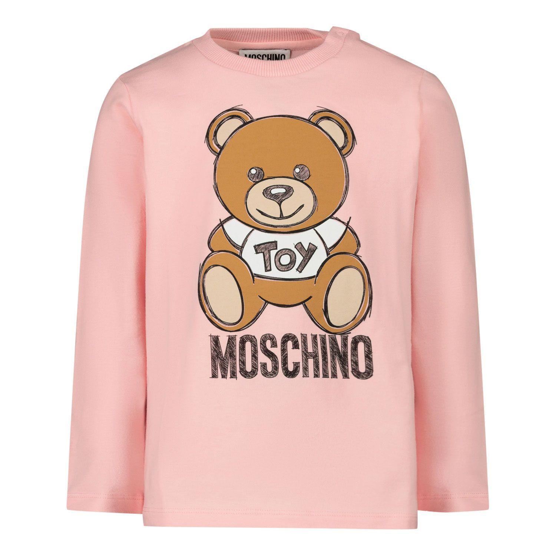 Picture of Moschino MVO000 baby shirt light pink