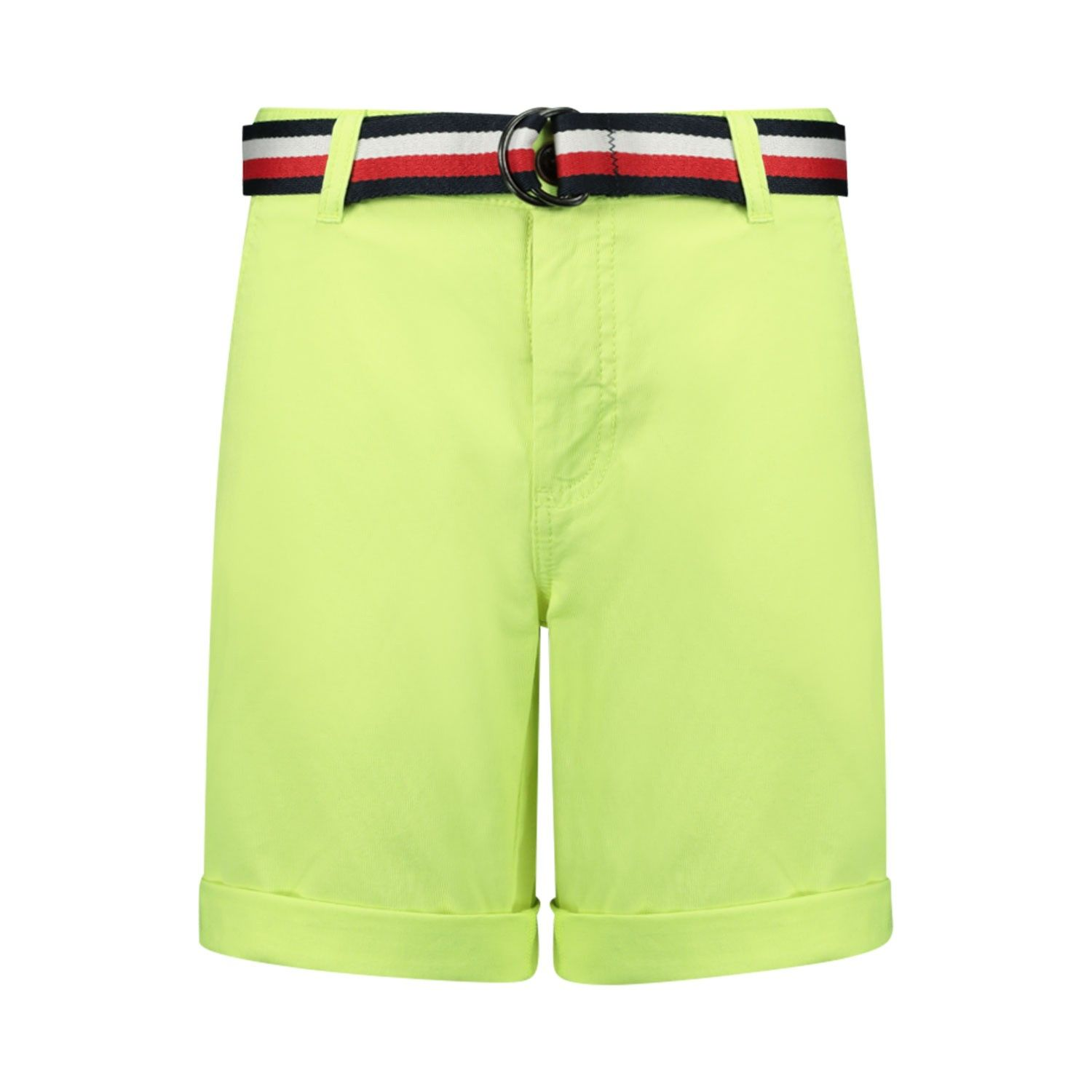 Picture of Tommy Hilfiger KB0KB05603 kids shorts fluoro yellow