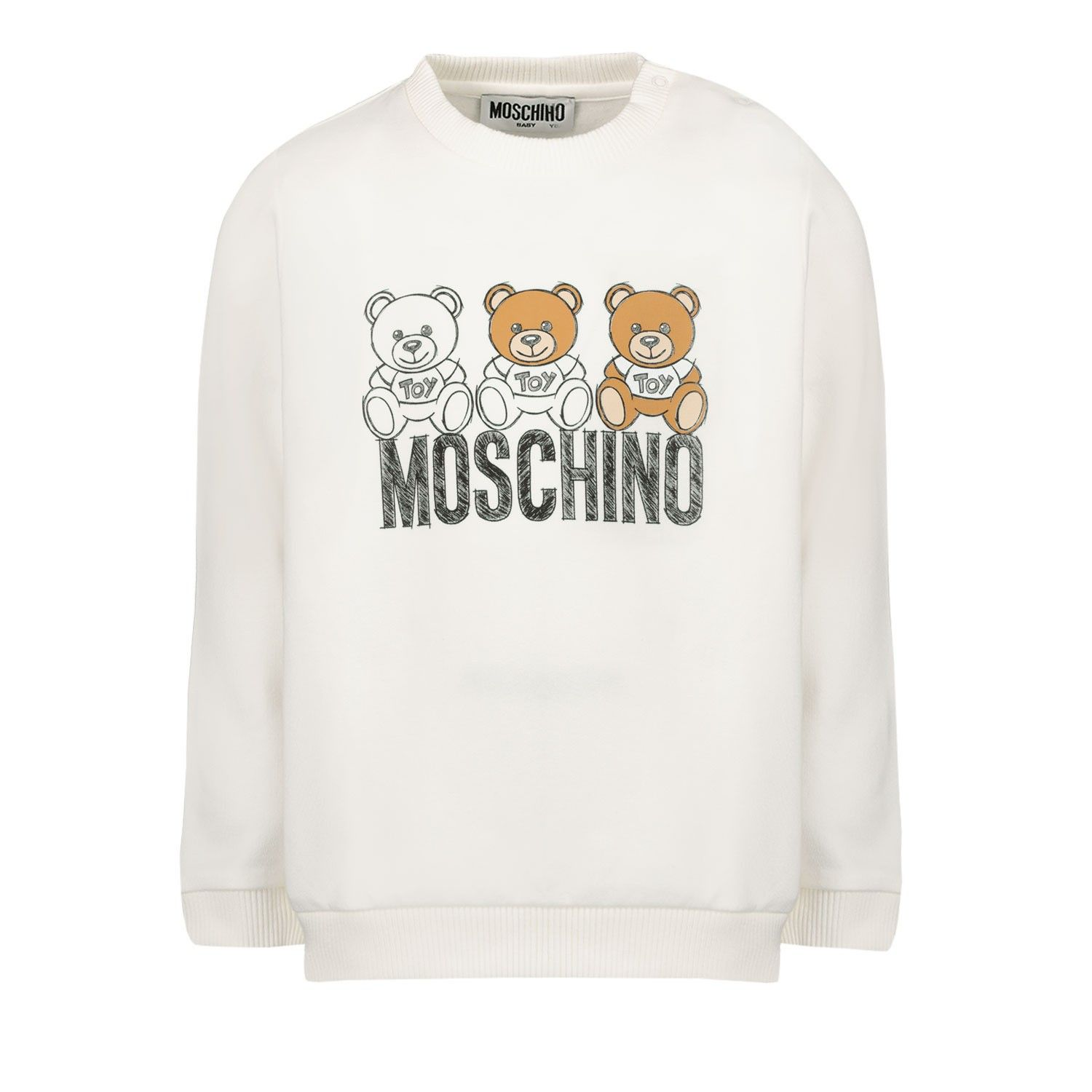 Picture of Moschino MPF03E baby sweater off white