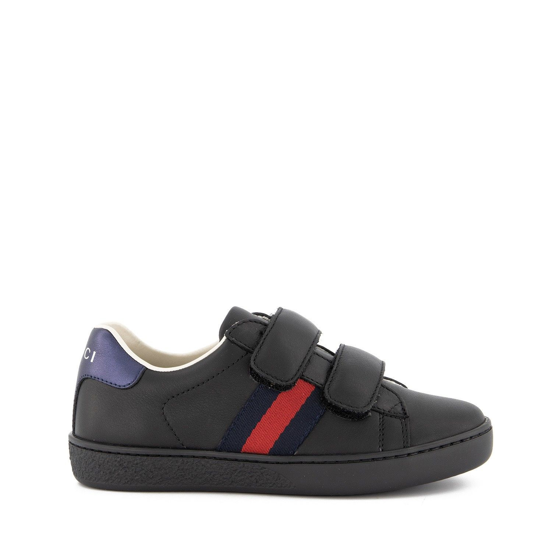 Afbeelding van Gucci 455496 CPWP0 kindersneakers zwart