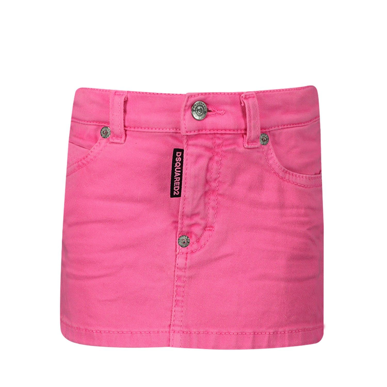 Picture of Dsquared2 DQ03KN baby skirt fluoro pink