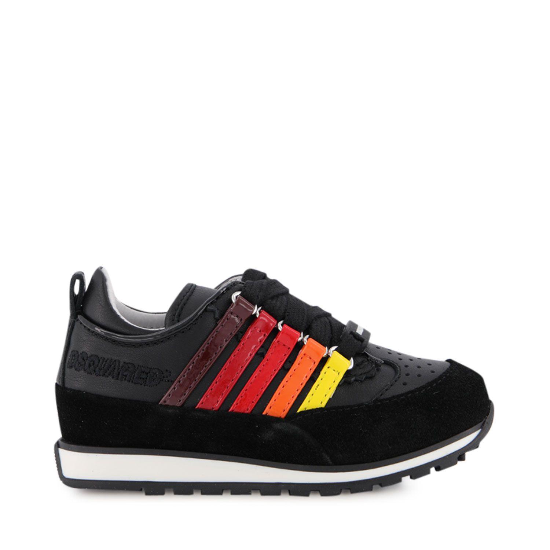 Afbeelding van Dsquared2 65101 kindersneakers zwart/rood