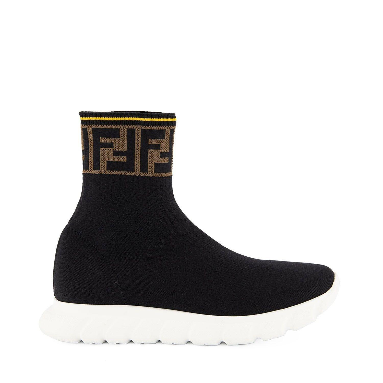 Picture of Fendi JMR322 kids sneakers black