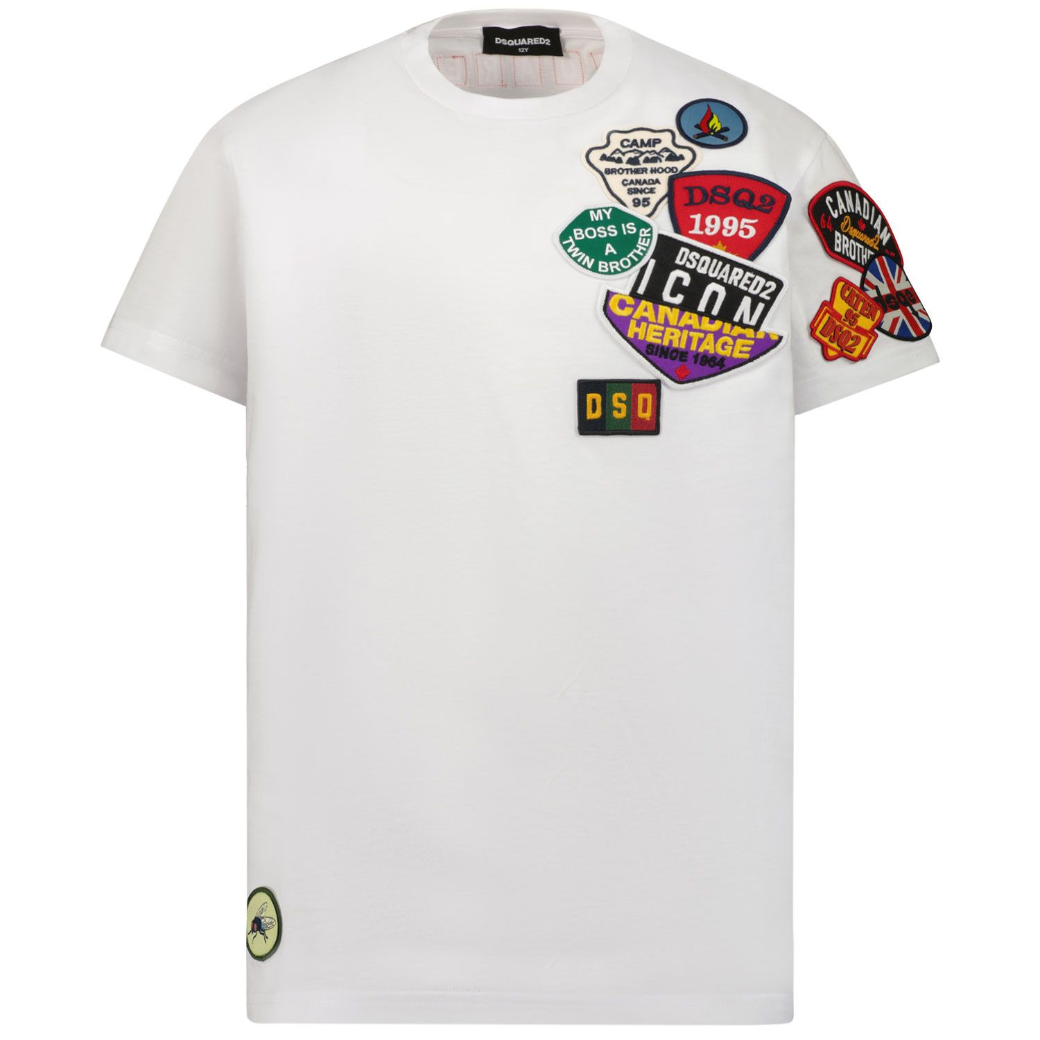Picture of Dsquared2 DQ0332 kids t-shirt white