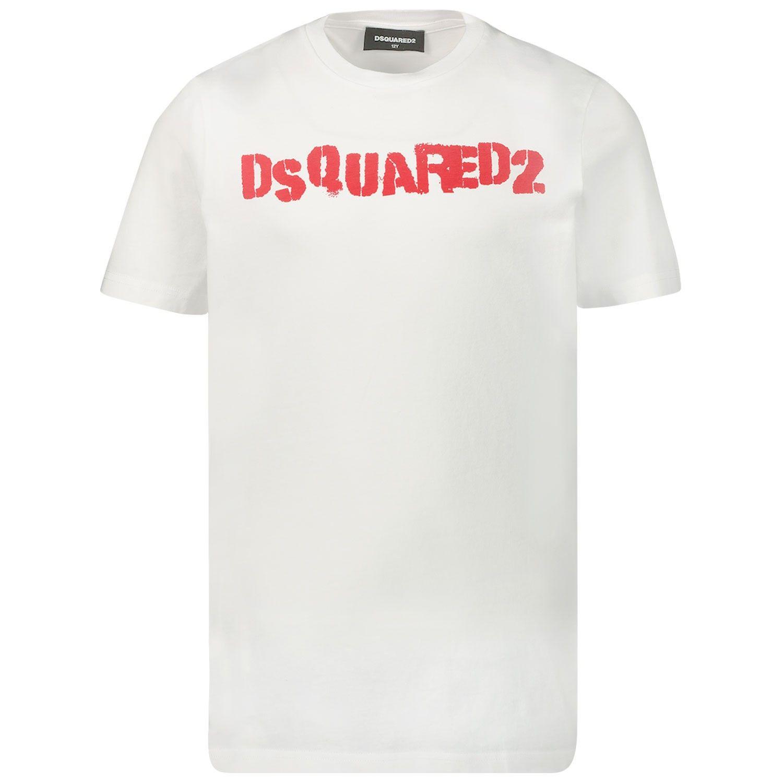 Afbeelding van Dsquared2 DQ03Y1 kinder t-shirt wit