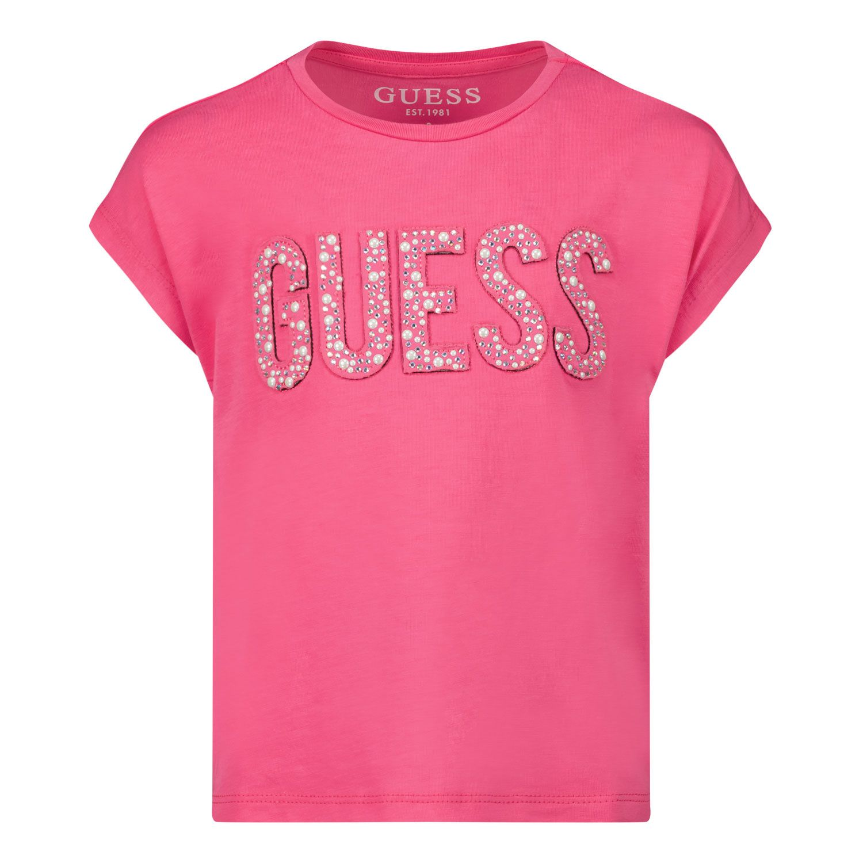 Picture of Guess K1RI07 kids t-shirt fuchsia